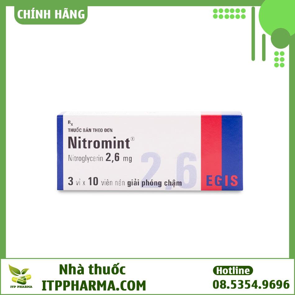 Thuốc Nitromint dạng viên nén 2,6mg Nitroglycerin