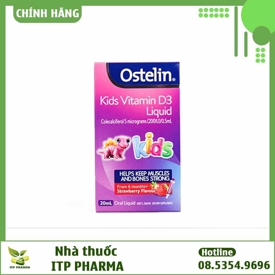 Thành phần Ostelin Vitamin D Kid là gì?