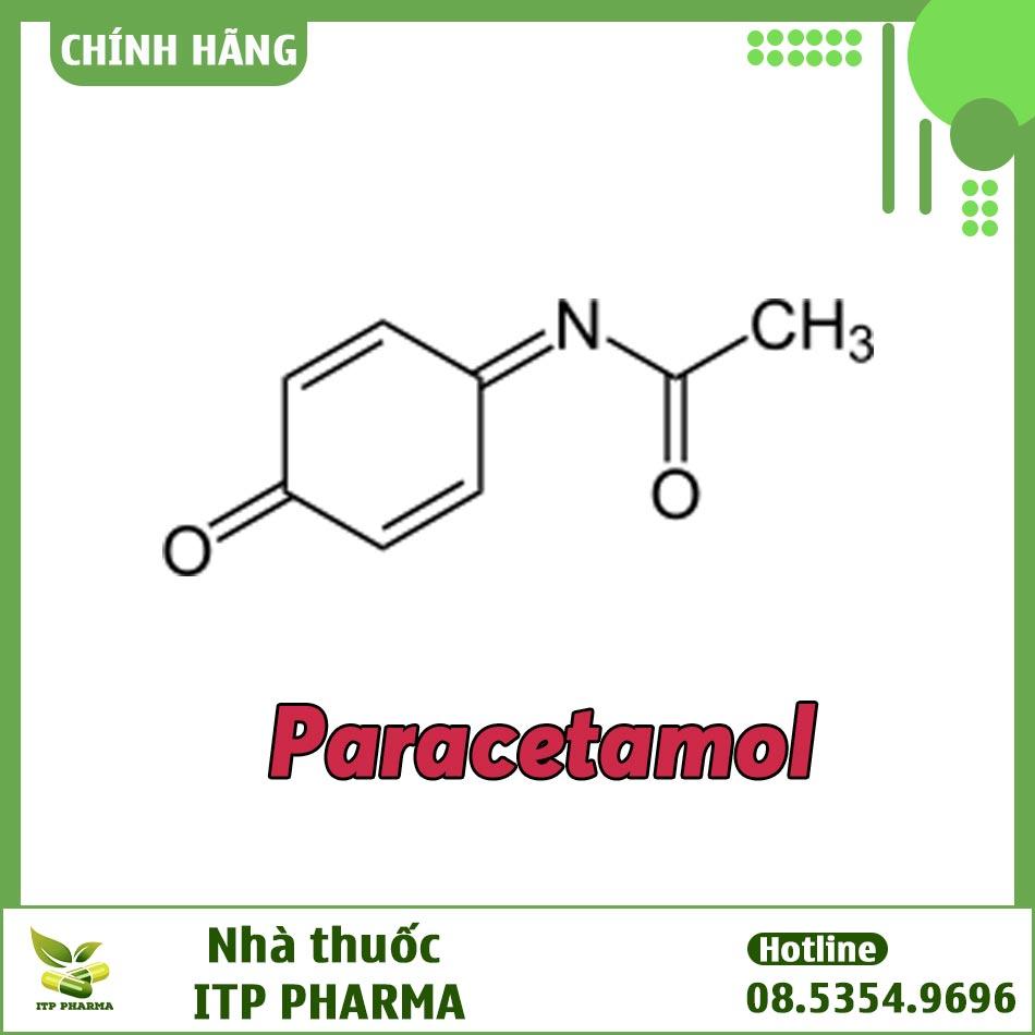Công thức hóa học của Paracetamol trong thuốc Samtricet