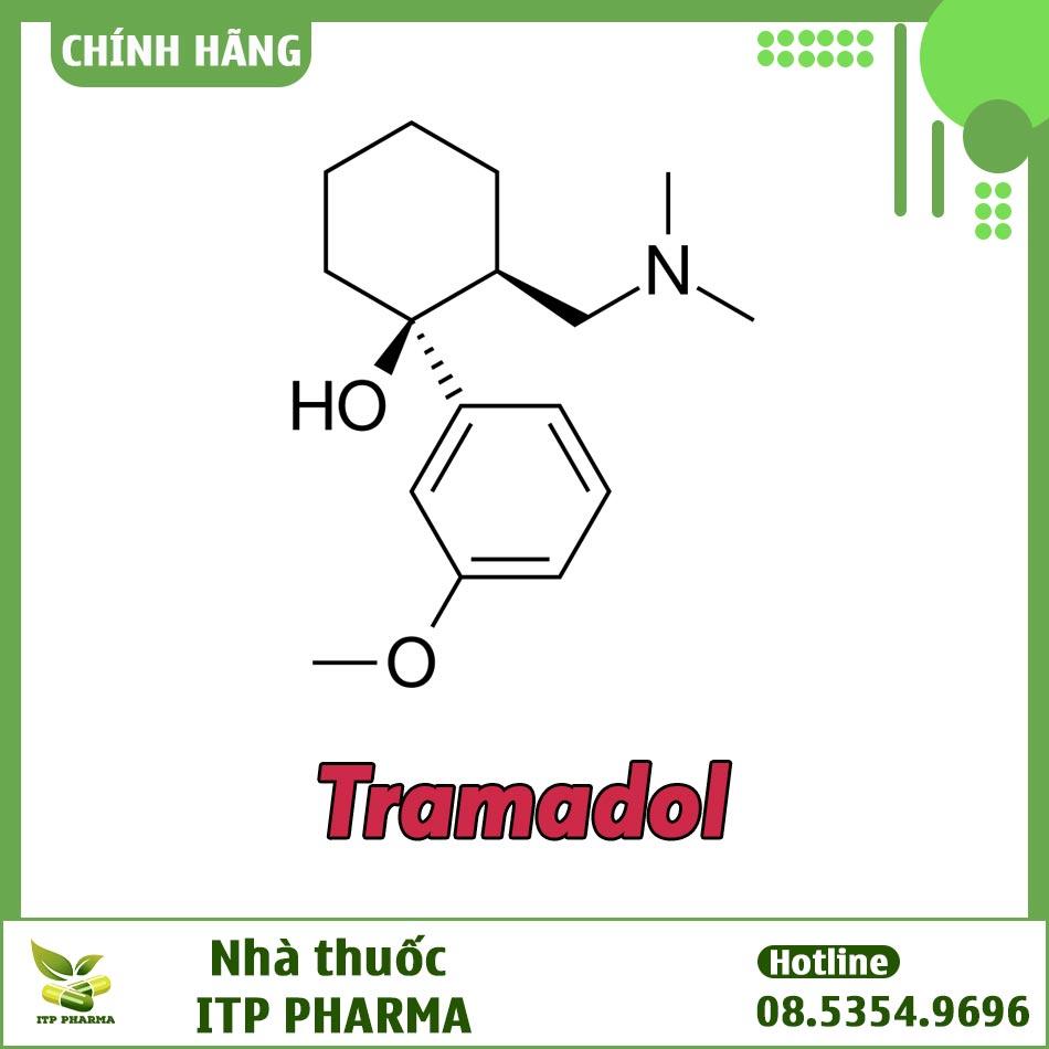 Công thức hóa học của Tramadol trong thuốc Samtricet