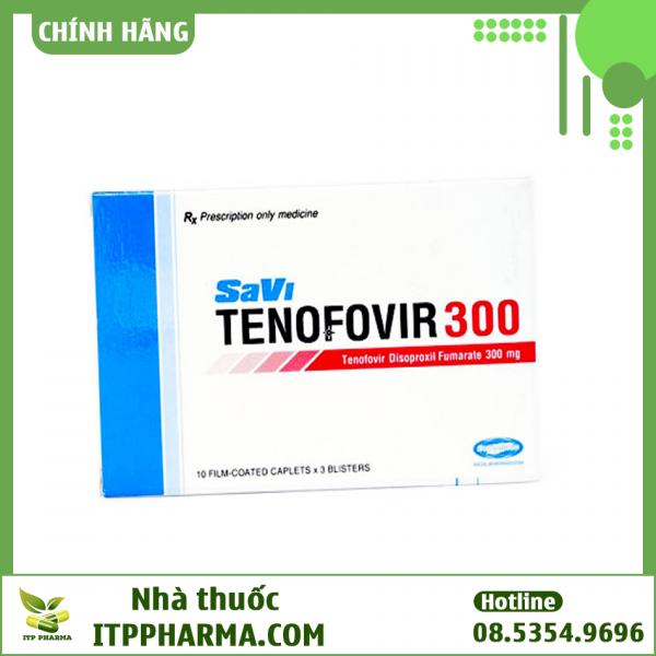 Hình ảnh hộp thuốc Savi Tenofovir 300mg