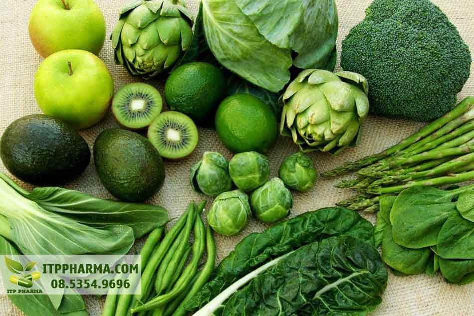Các loại rau giải độc gan: rau màu xanh đậm và bắp cải
