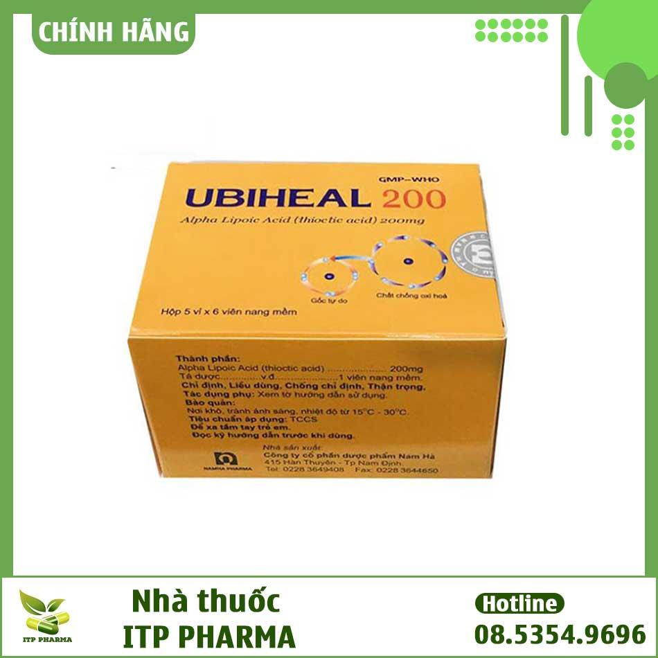 Hình ảnh của hộp thuốc Ubiheal 200