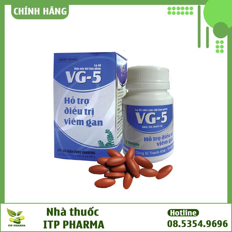 Sản phẩm hỗ trợ điều trị viêm gan VG-5