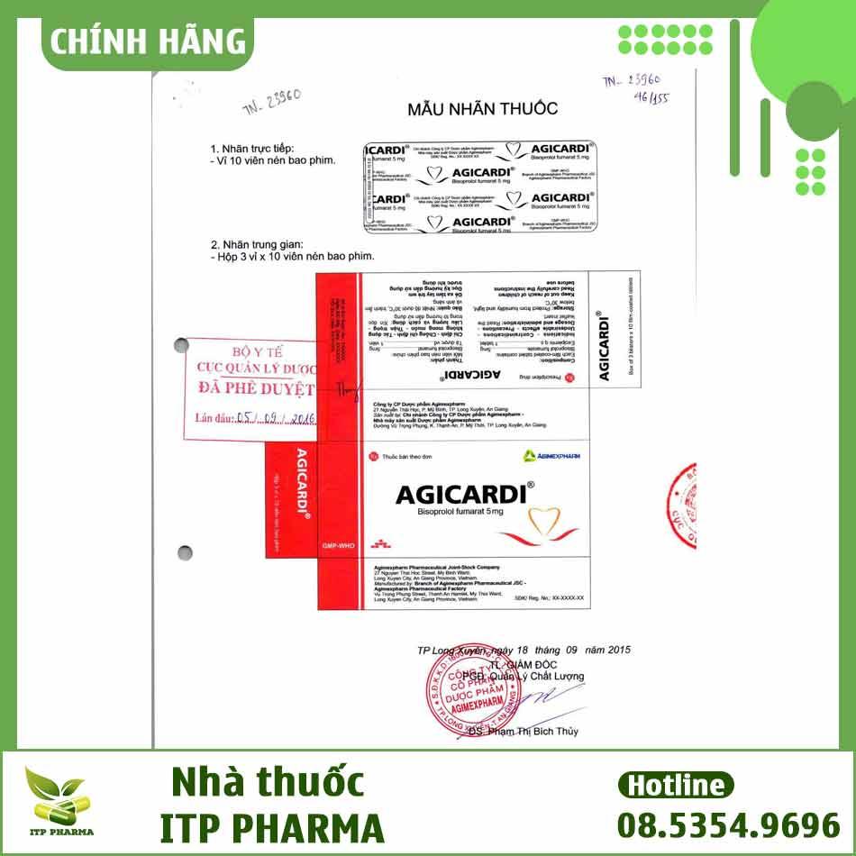 Bao bì đăng ký sản phẩm thuốc Agicardi
