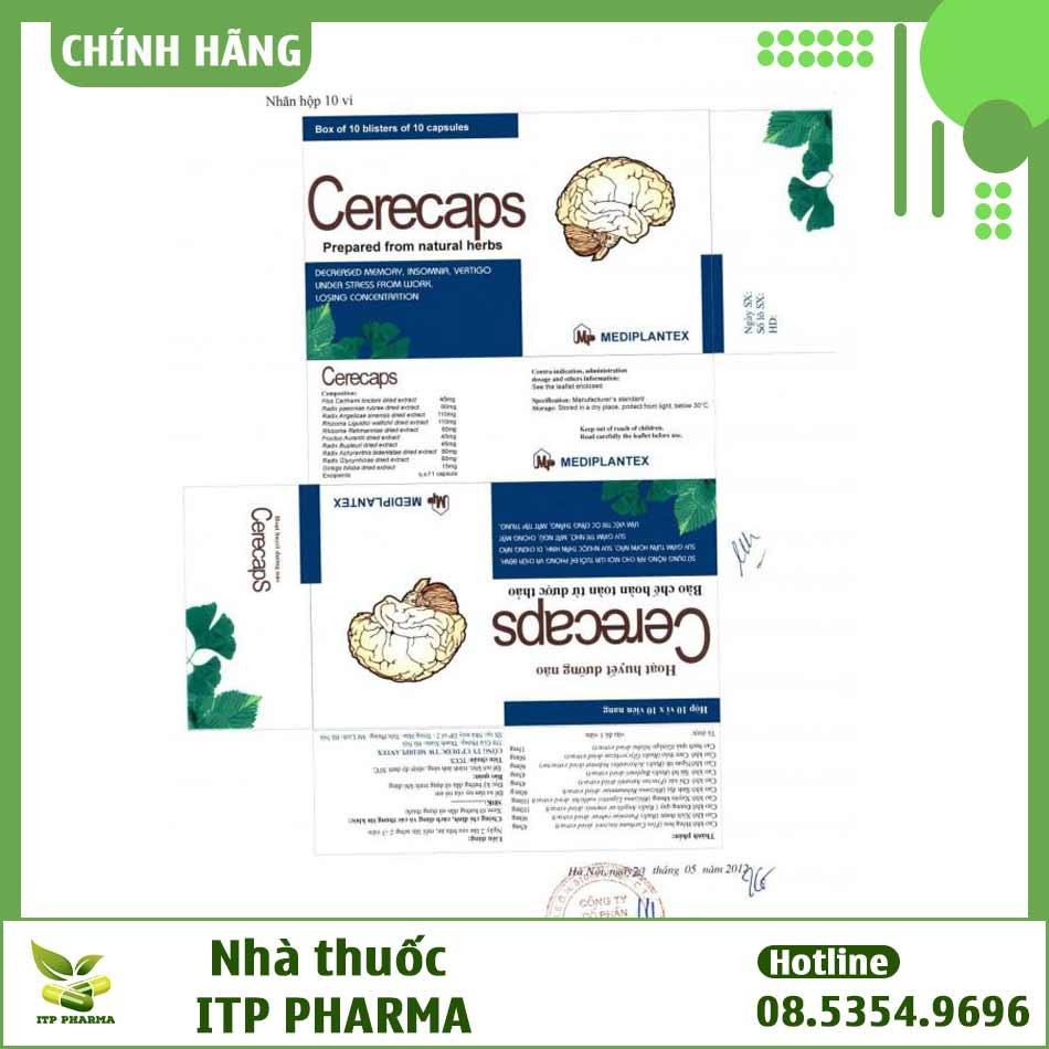 Bao bì đăng ký lưu hành thuốc Cerecaps