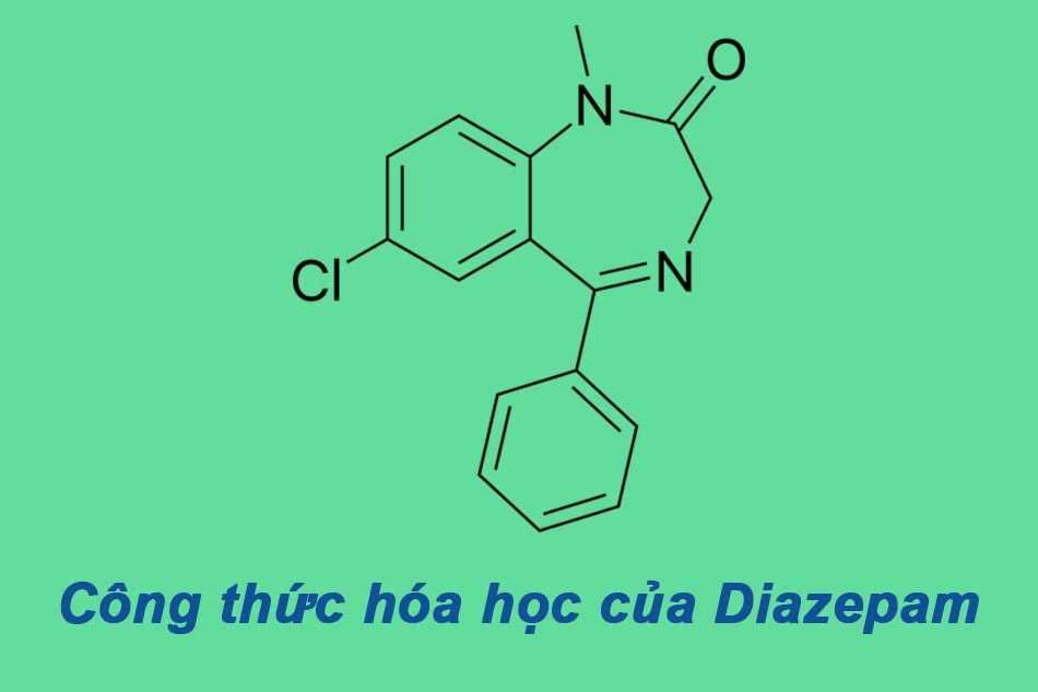 Công thức hóa học của Diazepam