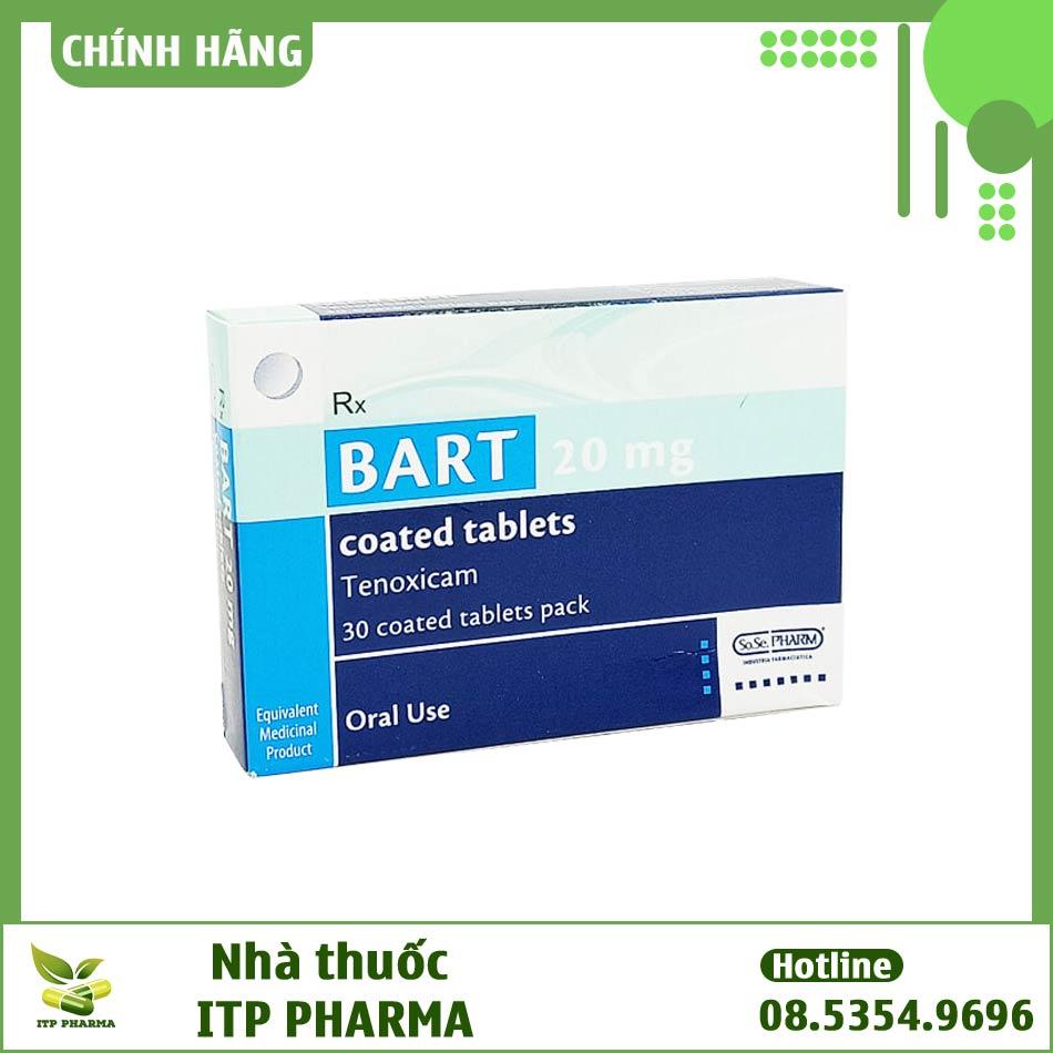 Dạng đóng gói của thuốc Bart 20mg