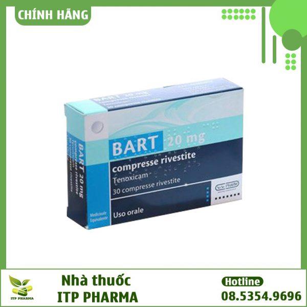 Hình ảnh của hộp thuốc Bart 20mg