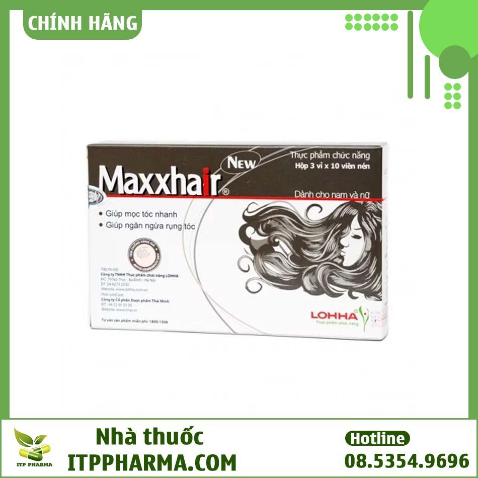 Hình ảnh hộp viên uống Maxxhair ngăn ngừa rụng tóc