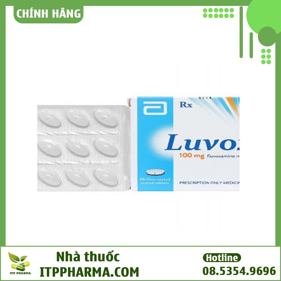Dạng đóng gói của thuốc Luvox 100mg