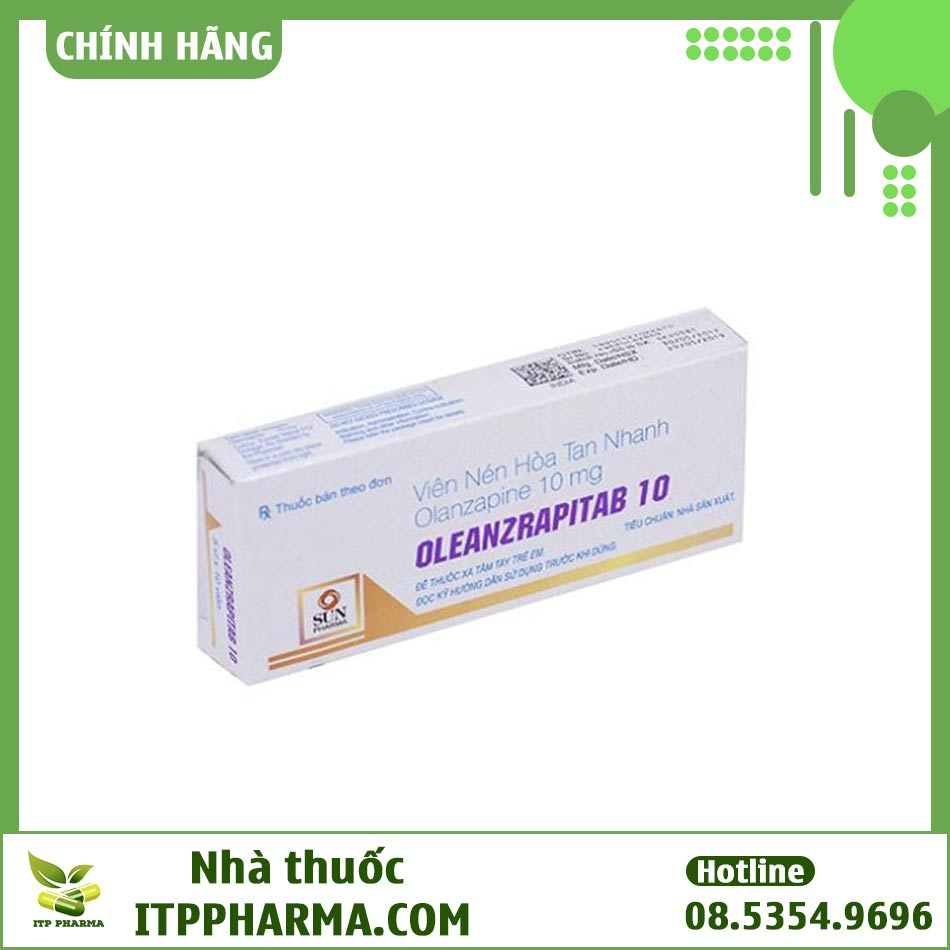 Hình ảnh hộp thuốc Oleanzrapitab 10mg