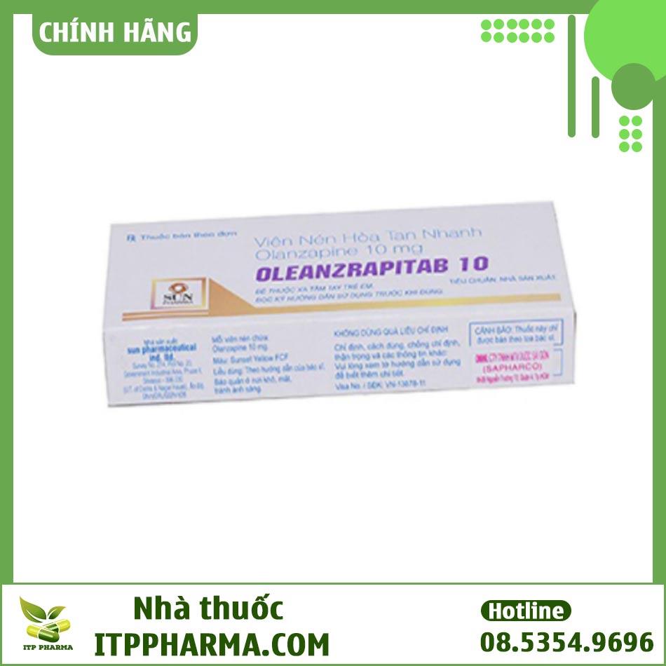 Dạng đóng gói của thuốc Oleanzrapitab 10mg