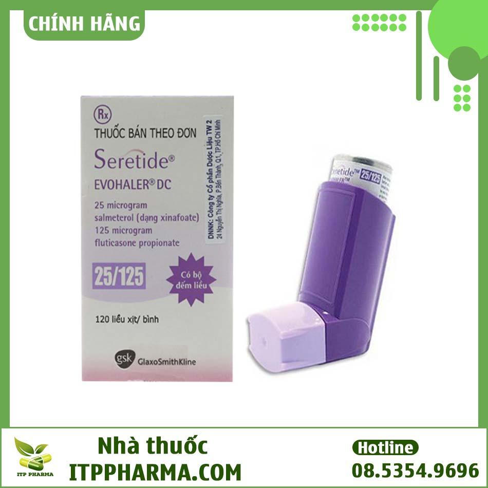 Dạng đóng gói của thuốc Seretide Evohaler DC 25/125mcg