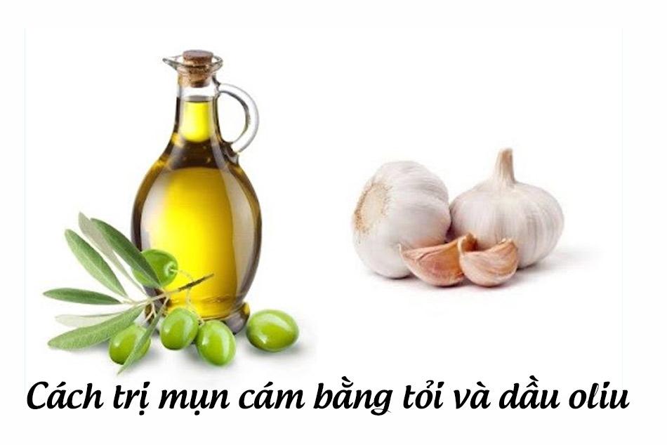 Kết hợp tỏi và dầu oliu trong trị mụn cám