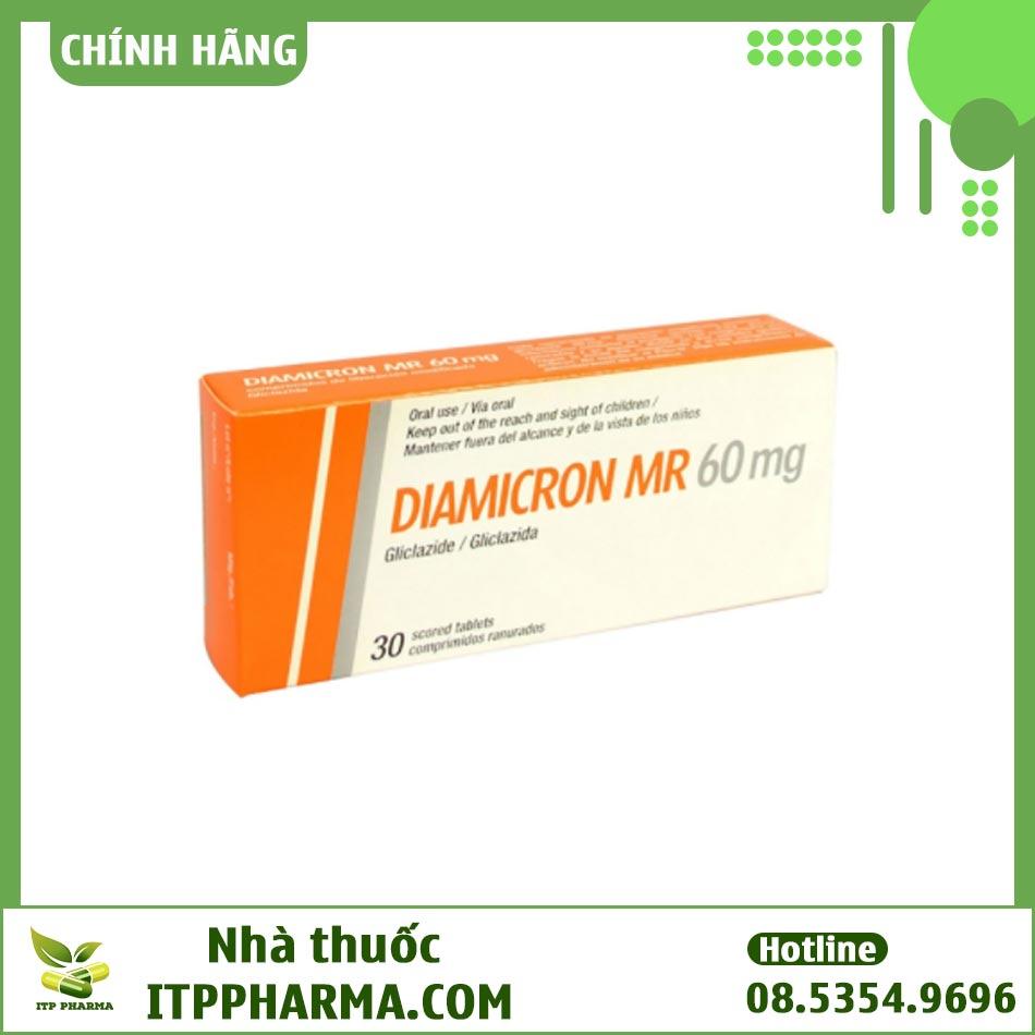 Diamicron MR 60mg là thuốc điều trị đái tháo đường tuýp 2