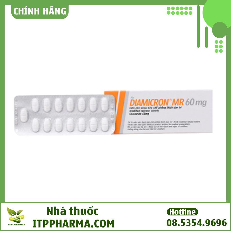 Gliclazide là hoạt chất chính trong thuốc Diamicron MR 60mg