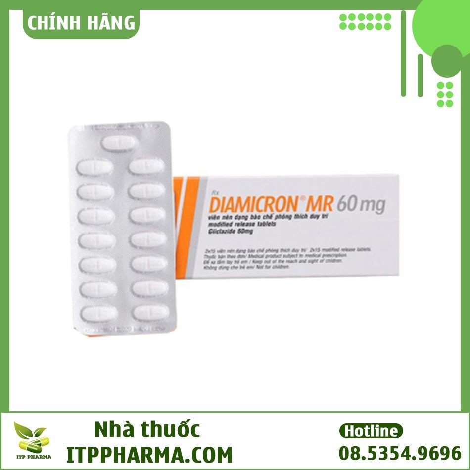 Dạng đóng gói của thuốc Diamicron MR 60mg