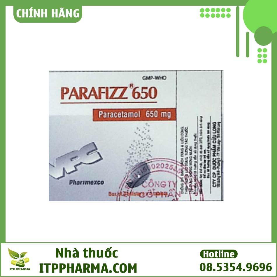 Hình ảnh hộp thuốc Parafizz 650