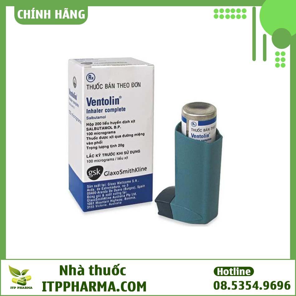 Thuốc xịt hen suyễn Ventolin được sử dụng khá phổ biến