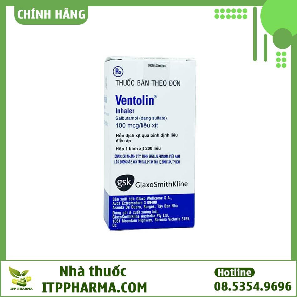 Hình ảnh hộp thuốc Ventolin